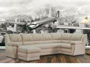 Фото3 Угловой диван Юрмала с оттоманкой (выкат в ситце, задняя стенка в основе) Угловые диваны