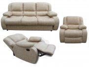 Фото1 Комплект Порто (диван, кресло реклайнер, кресло качалка) Прямые диваны