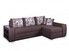 Фото Диван Байрон-М с оттоманкой (выкат в ситце, задняя стенка флизелин) Угловые диваны