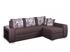 Фото Диван Байрон-М с оттоманкой (выкат и задняя стенка в основе) Угловые диваны