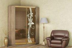 Фото Шкаф-купе угловой (130х130 см) (260х45х240 см) Угловые шкафы