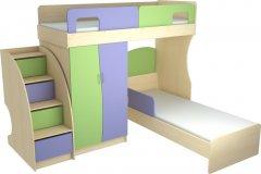 Фото Детский набор Меридиан №2 (КЧ+КО+ЛК)-Т Шкафы в детскую