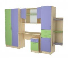 Фото Детский набор Меридиан №5 (ШГ+ШП+ПУ+ТЯ+СР+НС)-Т Шкафы в детскую