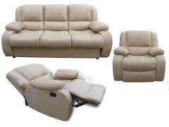 Фото Комплект Порто (диван, кресло реклайнер, кресло качалка)