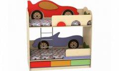 Фото Кровать двухъярусная Лунная Сказка «Кабриолет-Машинка» Кровати в детскую