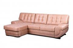 Фото Угловой диван Лацио с оттоманкой (выкат в ситце, задняя стенка в основе) Угловые диваны