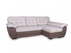 Фото Угловой диван Мартин с оттоманкой (выкат в ситце, задняя стенка в основе) Угловые диваны