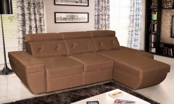 Угловой диван Давос с оттоманкой