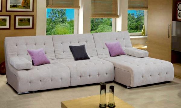 Угловой диван Каир с оттоманкой