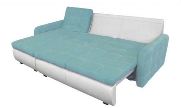 Угловой диван Орландо мини с оттоманкой и подлокотниками