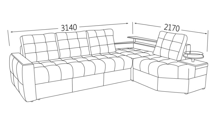 Фото Угловой диван тройной Хьюстон Угловые диваны