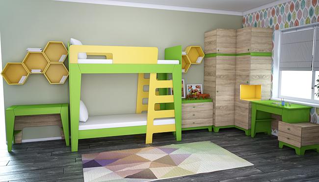 Фото Гардероб Диско ШГ 7-1 Шкафы в детскую