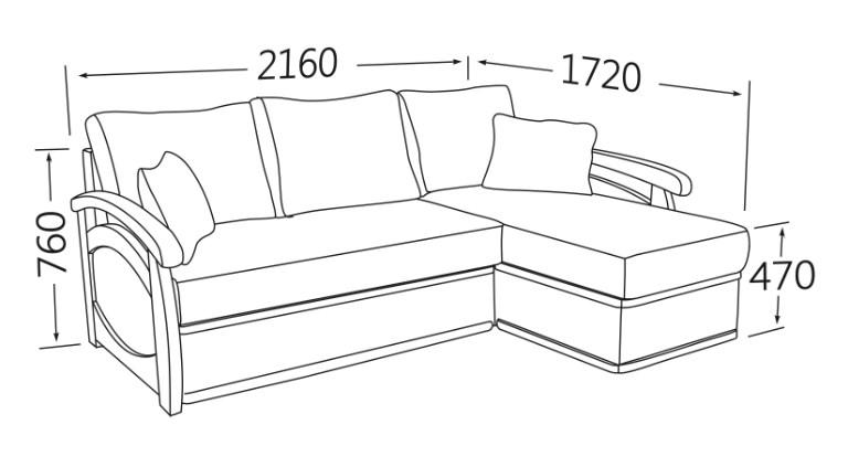 Фото Угловой диван Прага (длинный бок) Угловые диваны