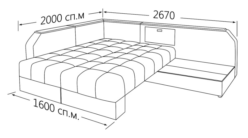 Фото Угловой диван, кровать Аврора Угловые диваны